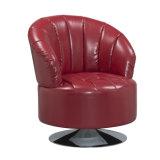 حديث مترف جلد أريكة قابل للتمحور رئيس كرسي تثبيت, أحمر