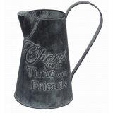 Antique Tin Indoor & Outdoor Garden Flower Pot