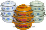 Комплект Casserole эмали для пользы кухни с крышкой эмали