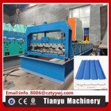La hoja del azulejo del metal del panel de la azotea lamina la formación de la máquina 860