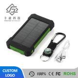 Wasserdichte Doppel-USB-schnelle aufladende Sonnenenergie-Bank mit LED-Licht