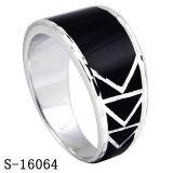 Anello semplice degli uomini dei monili d'argento dei monili 925 di modo