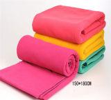 無地(ES2091821AMA)の刺繍のフランネルの羊毛毛布