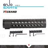 Composto da fibra do carbono de Keymod Handguard do trilho de um Picatinny de 10 polegadas (CFC)