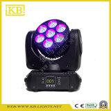 7PCS LED 이동하는 맨 위 광속 세척 빛