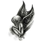 Etiquetas engomadas temporales impermeables del tatuaje del diseño de moda del ángel