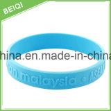 Il disegno personalizzato stampato mette in mostra il Wristband del silicone della decorazione, braccialetto
