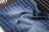 Tessuto di lavoro a maglia del Jean del reticolo dell'assegno del tessuto del denim di alta stirata