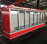 Comercial Supermercado Vertical Refrigerador de porta de vidro deslizante usado
