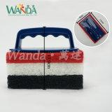 ハンドルによってごしごし洗うブラシをきれいにする交換可能な台所床のスクラバーのプール