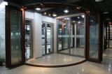 Дверь складчатости двойной застеклять 4 панелей алюминиевая, стеклянная нутряная дверь