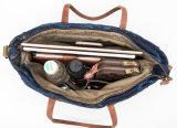 Cinghia di cuoio del sacchetto di Tote della Canvas Vintage della nuova signora, sacchetti di spalla d'acquisto