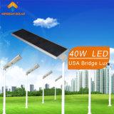 40W integrado o todo en una luz de calle solar (KS-S40)