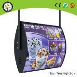 Рекламировать коробку индикации меню ткани светлую