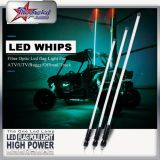 China fabricante ATV UTV Rzr 5050SMD LED Whip Luz Antena RGB Color por Smartphone Bluetooth Control 1,2 m 1,5 m 1,8 m
