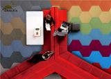 PPの切口の山のオフィスビルの瀝青の裏付けのための商業カーペットのタイル
