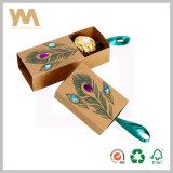 Rectángulo de regalo del chocolate del acondicionamiento de los alimentos de la cartulina