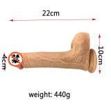 Novo chega o vibrador enorme grande do silicone do brinquedo do sexo para mulheres