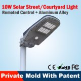 Indicatore luminoso esterno solare dell'alberino e della parete LED