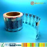 embutido seco de la frecuencia ultraelevada de la escritura de la etiqueta del papel H3 de 860-960MHz RFID 9662