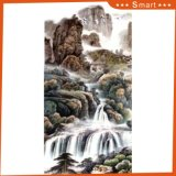 Het digitale Afgedrukte Chinese Olieverfschilderij van de Daling voor de Decoratie van de Vestibule