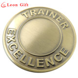 Kundenspezifisches überzogene Metallmünzen des Großverkauf-3D Gold für Andenken