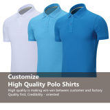 OEM Custom High Quality Printing / Broderie Pure Color Cotton / Polyester Polo