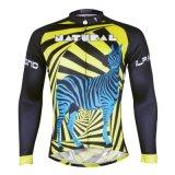 Зебра Stripes Джерси людей верхних частей куртки спортов задействуя