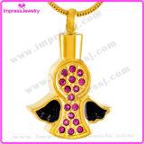 Vleugels met de Halsband van de Urn van de Tegenhangers van de Juwelen van de Crematie van Kristallen voor As