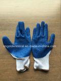 Algodón Interlock Liner arruga guantes de látex guantes de trabajo industrial