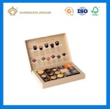 Rectángulo de empaquetado modificado para requisitos particulares lujo del cajón del chocolate de vaivén del regalo (con el divisor del papel del oro)