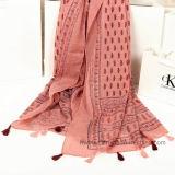Écharpe estampée par Paisley de Colorfule de mode en polyester 100% (HP02)