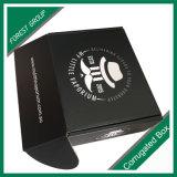 Cadeau empaquetant la boîte en carton estampée ordinaire blanche noire