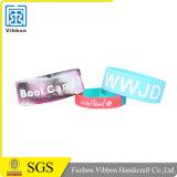 Wristband su ordinazione promozionale poco costoso del silicone di marchio