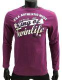 T-shirt longo do lazer para homens