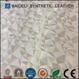 Couro sintético do PVC do pó de vidro Multicolor para sapatas atléticas e sacos