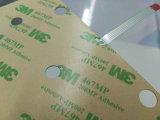 Interruttore di membrana flessibile su ordinazione impresso chiusura lampo della pellicola sottile con adesivo 3m467/3m468