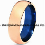 La personalità DIY di modo di marea dell'oro del tungsteno coppia l'anello dei monili del tungsteno