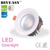 15W éclairage LED en aluminium de coulage sous pression DEL Downlight
