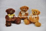Grande giocattolo di seduta dell'orso dell'orsacchiotto della peluche con i vestiti