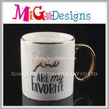 Изготовленный на заказ керамические кружки кофеего печатание золота чашки