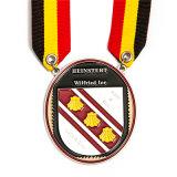 Medaglia creativa di sport dello smalto con la sagola nei militari di colore dell'oro