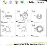 Migliore dissipatore di calore di alluminio di profilo anodizzato di qualità pezzo fuso per materiale da costruzione