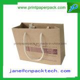 Nueva bolsa de papel de Kraft de las compras de la manera del diseño