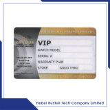 Carte lustrée de PVC d'IDENTIFICATION RF de blanc d'or de qualité