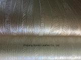 Couro sintético do PVC da superfície metálica para o sofá/mobília/saco/decoração