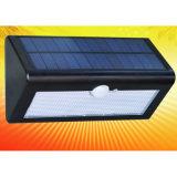 Lumière extérieure solaire de mur de la qualité gentille DEL