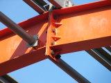 La estructura de acero pintado de gran utilidad para la plaza de aparcamiento y estructura de acero