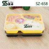 A classe superior de 5 compartimentos engrossa a bandeja plástica descartável do alimento