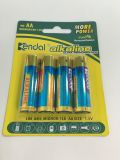 Paquete de 4 PCS AA Lr6 1.5V Batería alcalina